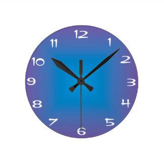 Reloj azul/púrpura >Colored llano de la cocina