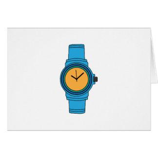 Reloj azul tarjetón