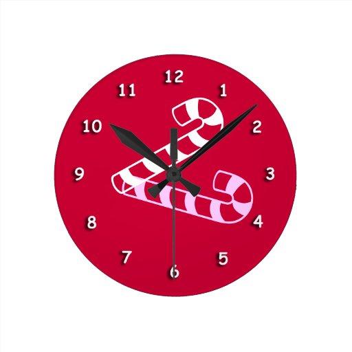 Reloj - bastón de caramelo grande con la sombra