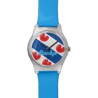 Reloj Baukje de la bandera del Frisian de Fryslân
