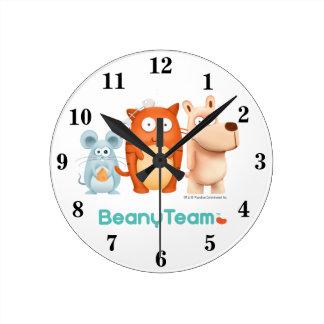 Reloj: BeanyTeam™ - gato y ratón y perro Reloj Redondo Mediano