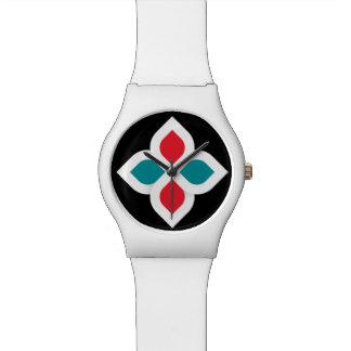 Reloj blanco de la hermandad global