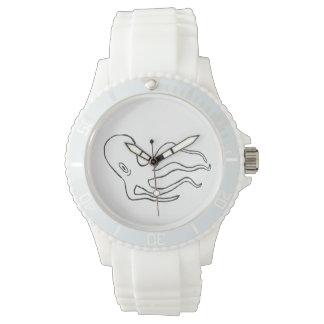 Reloj blanco de Octapus