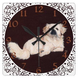 Reloj blanco de Pekingese