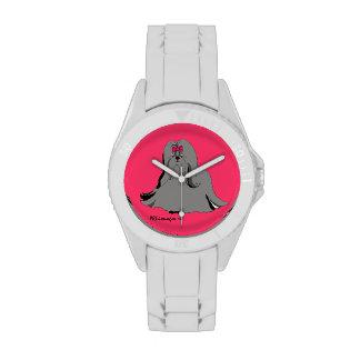 Reloj blanco de Shih Tzu Sondra