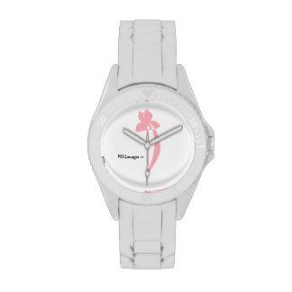 Reloj blanco del iris del rosa del deporte de PRLi