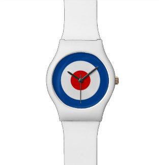 Reloj blanco mate de la MOD Roundel