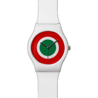 Reloj blanco mate de Roundel del italiano de la MO