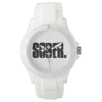 Reloj blanco sobrio