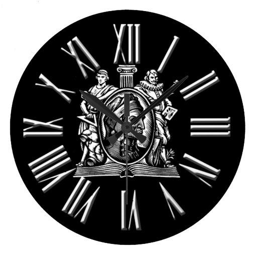 Reloj blanco y negro del conocimiento