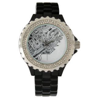 Reloj blanco y negro del modelo