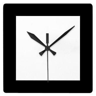 Reloj blanco y negro llano urbano de Hottie Pierot