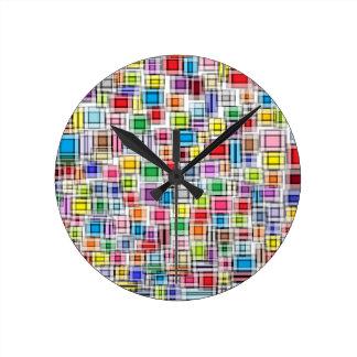 Reloj borroso de los cuadrados