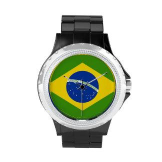 Reloj brasileño de la bandera nacional