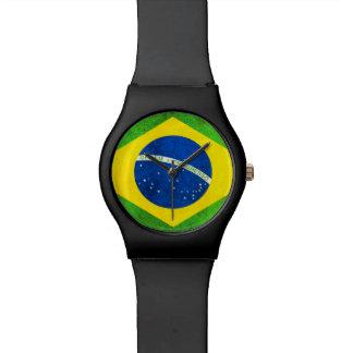 Reloj brasileño de la bandera
