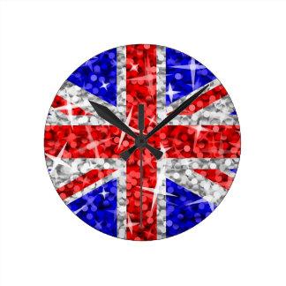 Reloj BRITÁNICO del Glitz redondo