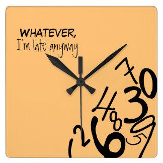 Reloj caido de los números
