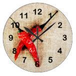 reloj caliente de las pimientas de chile rojo