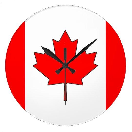Reloj canadiense de la bandera