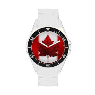 Reloj canadiense del recuerdo de la bandera del re