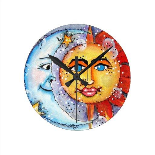 Reloj celestial de Sun y de la luna
