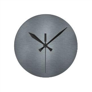 Reloj cepillado del metal