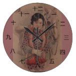Reloj chino de la postal del vintage