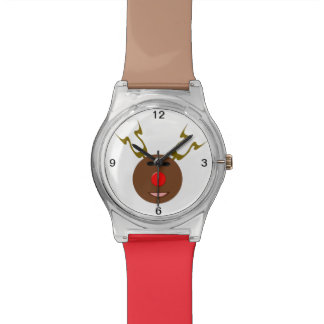 Reloj cibernético del reno del navidad