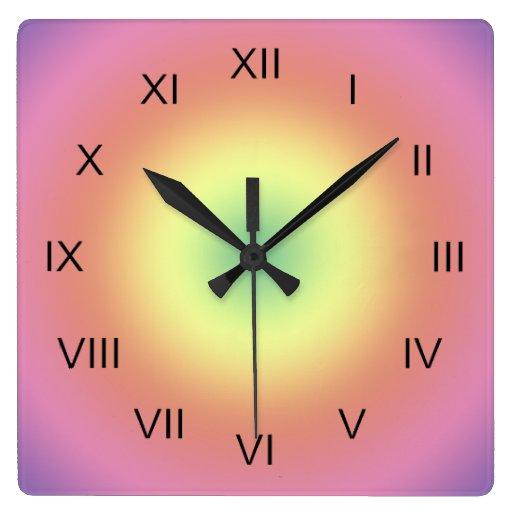 Reloj - círculos del arco iris