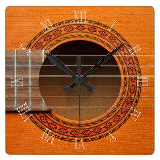 Reloj clásico de la guitarra
