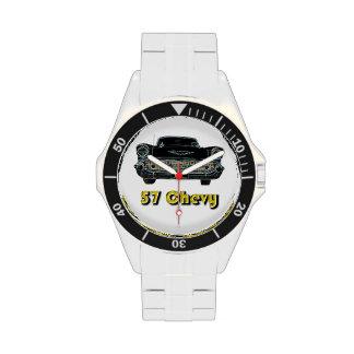 Reloj clásico del acero inoxidable de 57 Chevy
