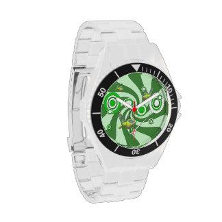 Reloj clásico del acero inoxidable de la libélula