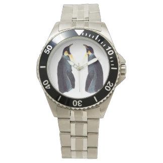 Reloj clásico del acero inoxidable de los
