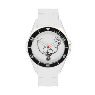 Reloj clásico del acero inoxidable del CARIBÚ