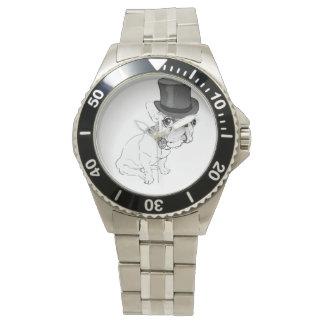 Reloj clásico del acero inoxidable del Overlord