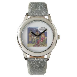Reloj clásico divertido del dibujo animado de la