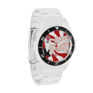Reloj clásico gruñón del acero inoxidable de Santa