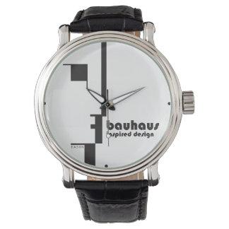 Reloj clásico inspirado BAUHAUS de la Línea-Cara