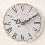 Reloj clásico posavasos personalizados