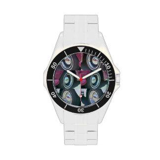 Reloj clásico reflector del acero inoxidable de