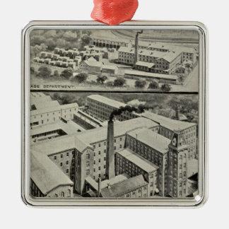 Reloj Co de Waterbury Adorno Navideño Cuadrado De Metal