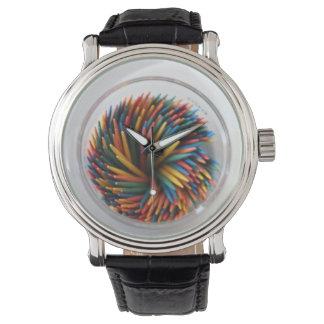 Reloj coloreado de los Toothpicks