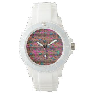 Reloj coloreado del silicón de la pared de