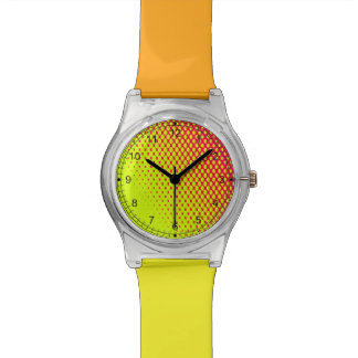Reloj coloreado fruta cítrica moderna