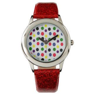 Reloj coloreado multi del lunar