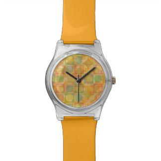 Reloj colorido abstracto del modelo