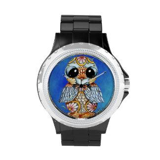 Reloj colorido caprichoso del diamante artificial