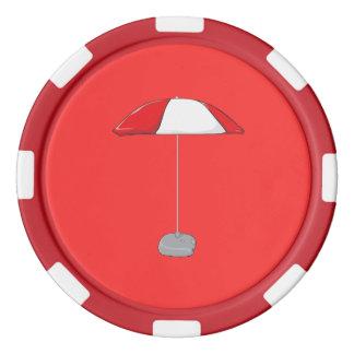 Reloj colorido de encargo de las botellas de agua fichas de póquer