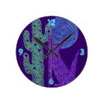 Reloj colorido de la decoración del arte de la div