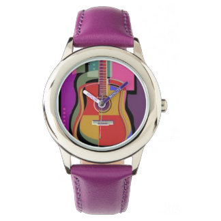 Reloj colorido de la guitarra